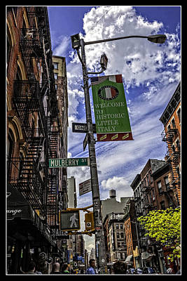 Mulberry St - Nyc Print by Madeline Ellis