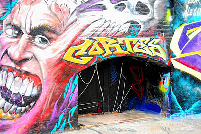 5 Pointz Photograph - Mural With Teeth by Andrea Simon