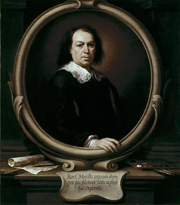 Self Portrait Photograph - Murillo, Bartolom� Esteban 1617-1682 by Everett