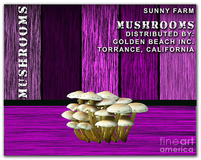 Mushroom Farm Print by Marvin Blaine
