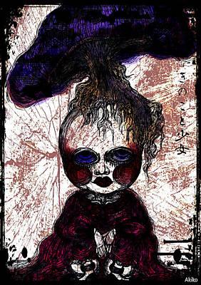 Mushroom Girl Print by Akiko Kobayashi