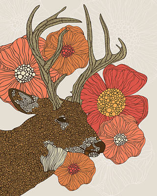 My Dear Deer Print by Valentina Ramos