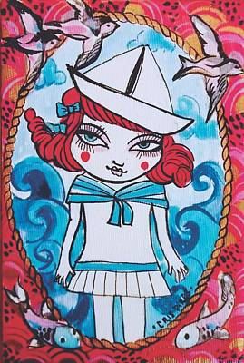 Manga Painting - My Lovely Sailor by Cris Pires