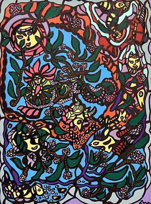 Abstract Painting - Masquerade by Sally Barnard