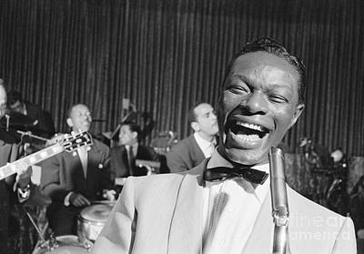 Perform Photograph - Nat King Cole 1954 by The Phillip Harrington Collection