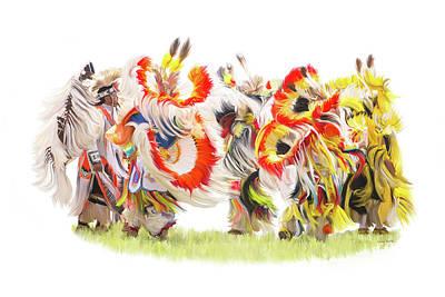 Native Color In Motion Print by Ramona Murdock
