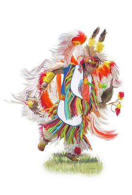 Native Rhythm Print by Ramona Murdock