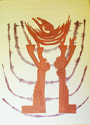 African Contemporary Ceramics Painting - Nativity Of Jesus by Gloria Ssali