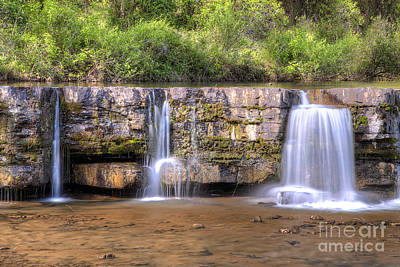 Natural Dam Falls Print by Twenty Two North Photography