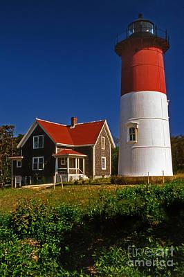 Nauset Beach Lighthouse Print by Skip Willits