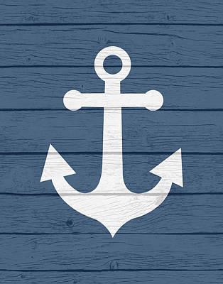 Nautical Anchor Print by Tamara Robinson