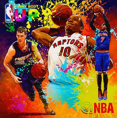 Nba Season Poster - Part 2 Original by Don Kuing