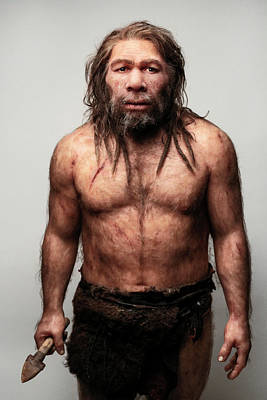 Chapelle Photograph - Neanderthal Model by S. Entressangle/e. Daynes
