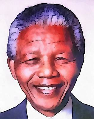 Nelson Mandela Print by Dan Sproul