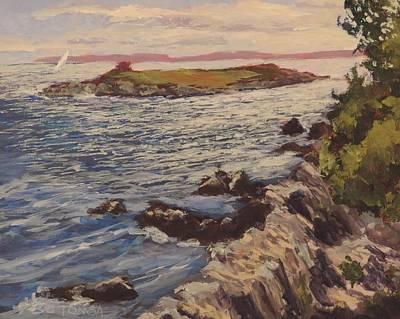 Windblown Painting - New England Coast by Bill Tomsa