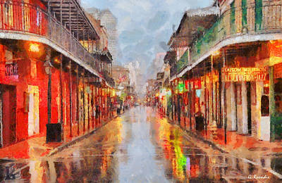 New Orleans Print by George Rossidis