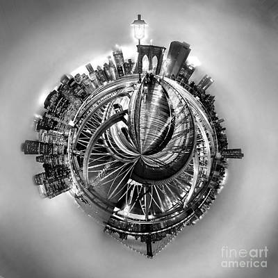 Circle Digital Art - Manhattan World by Az Jackson