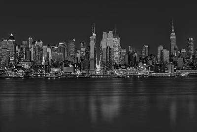 New York City Skyline Photograph - New York City Comes Alives At Sundown by Susan Candelario