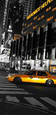 New York City Taxi Print by Dan Sproul