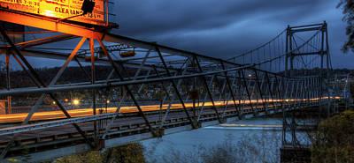 Fiestaware Photograph - Newell Toll Bridge by David Dufresne