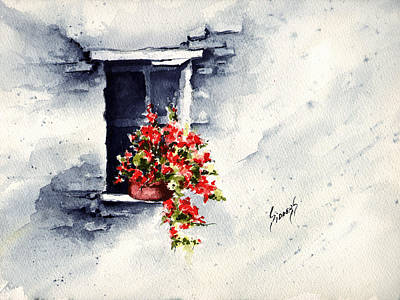 Niche With Flowers Original by Sam Sidders
