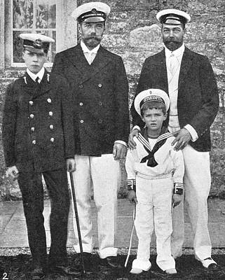 Alexei Photograph - Nicholas II & George V, 1909 by Granger
