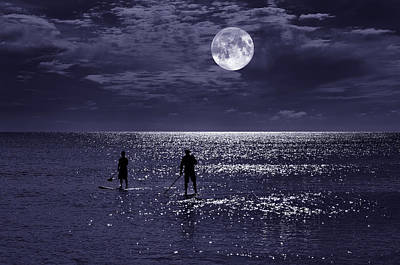Surreal Landscape Photograph - Night Boarders by Laura Fasulo