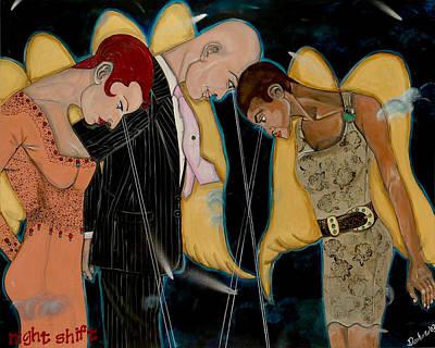 Night Angel Painting - Night Shift by Darlene Graeser