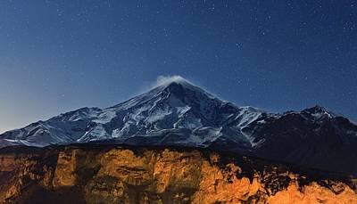 Night Sky Over Mount Damavand Print by Babak Tafreshi