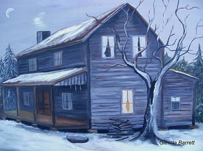 Snow Piles Painting - Nightfall by Glenda Barrett