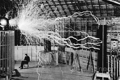 Nikola Tesla Serbian-american Inventor Print by Science Source