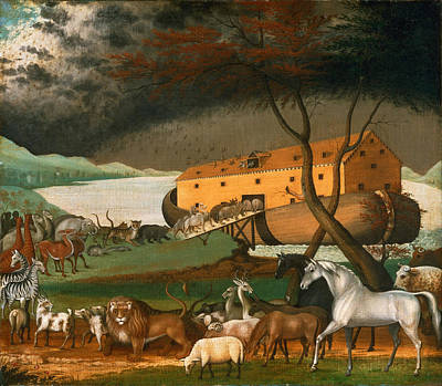 Noah Painting - Noahs Ark by Edward Hicks