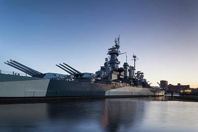 Battleship Photograph - North Carolina, Wilmington, Battleship by Walter Bibikow
