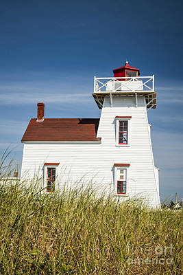 Sight Photograph - North Rustico Lighthouse by Elena Elisseeva