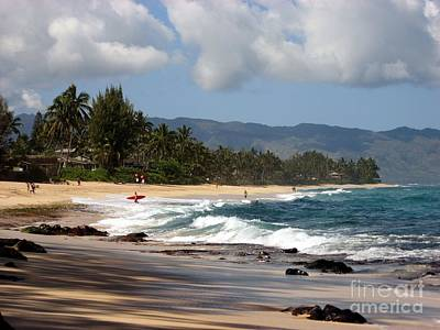 Laniakea Beach Photograph - North Shore by Christine Stack