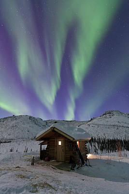 Northern Lights Shimmer Print by Hugh Rose