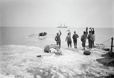 Abbott Photograph - Northern Party Antarctic Expedition by Scott Polar Research Institute