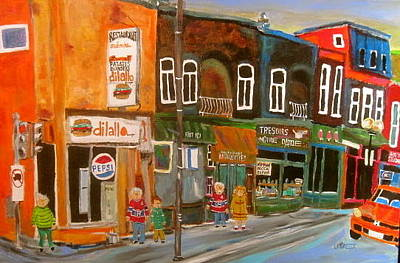 Pepsi Sign Painting - Notre Dame Antique Row by Michael Litvack