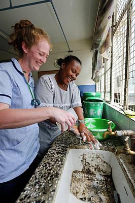 Nursing In Sierra Leone Print by Matthew Oldfield