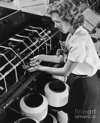 Nylon Production, 1940s Print by Hagley Archive