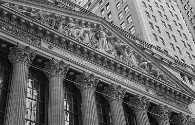 Nyse  New York Stock Exchange Wall Street Print by Susan Candelario