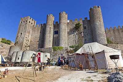Historical Re-enactments Photograph - Obidos Castle by Jose Elias - Sofia Pereira