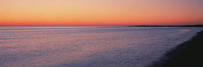 Provincetown Photograph - Ocean At Sunset, Provincetown, Cape by Panoramic Images