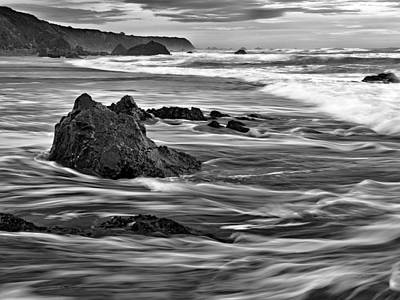 Impressionistic Landscape Photograph - Ocean Current by Leland D Howard