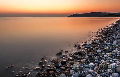 North Wales Digital Art - Ocean Sunset by Adrian Evans