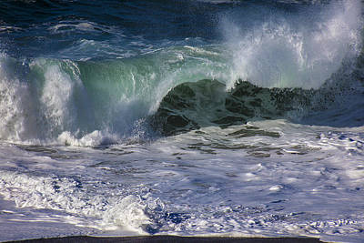 Ripped Photograph - Ocean Waves by Garry Gay