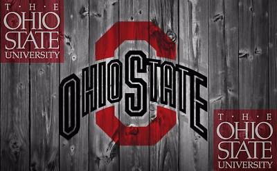Basketball Mixed Media - Ohio State Buckeyes by Dan Sproul