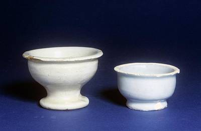 Ceramics Photograph - Ointment Pots by Science Photo Library