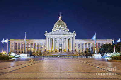Oklahoma Photograph - Oklahoma State Capitol by Twenty Two North Photography
