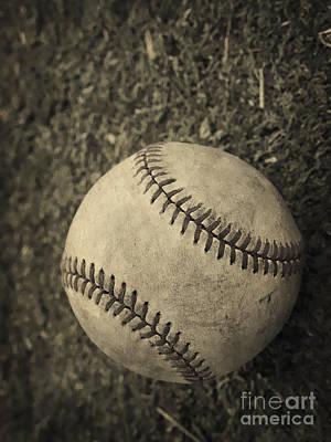Old Baseball Print by Edward Fielding